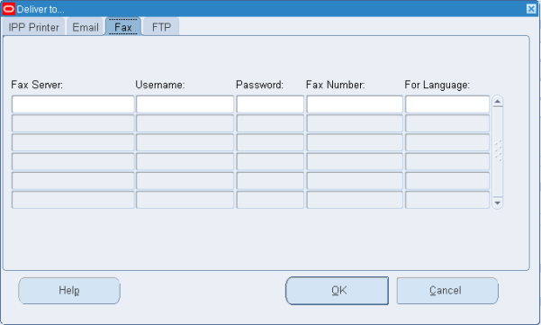 Oracle EBS R12.1.3 (RUP3) Delivery Options Form - Fax