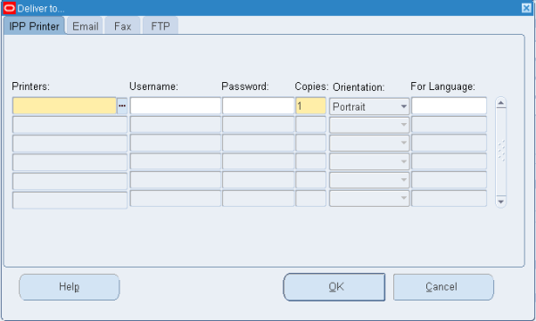 Oracle EBS Submit Request Delivery Opts