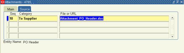PO Header Attachment