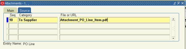 PO Line Attachment