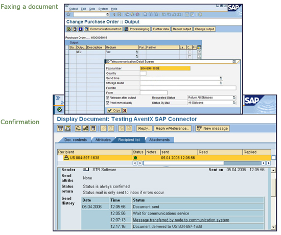 FAQ: Fax from SAP ERP - documents and confirmation