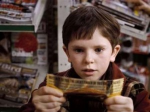 Charlie finds his Golden Ticket