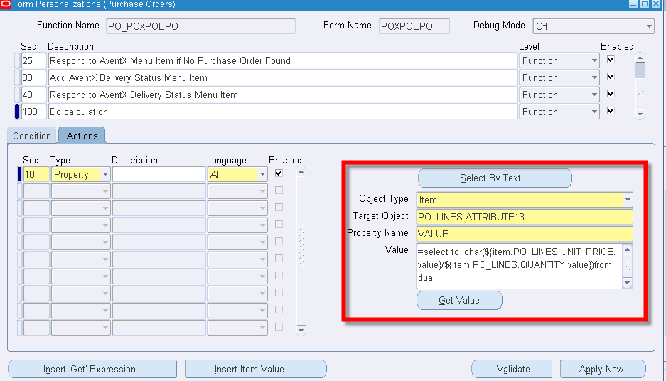 Oracle EBS Forms Personalization: Calculating an Item Value | STR ...