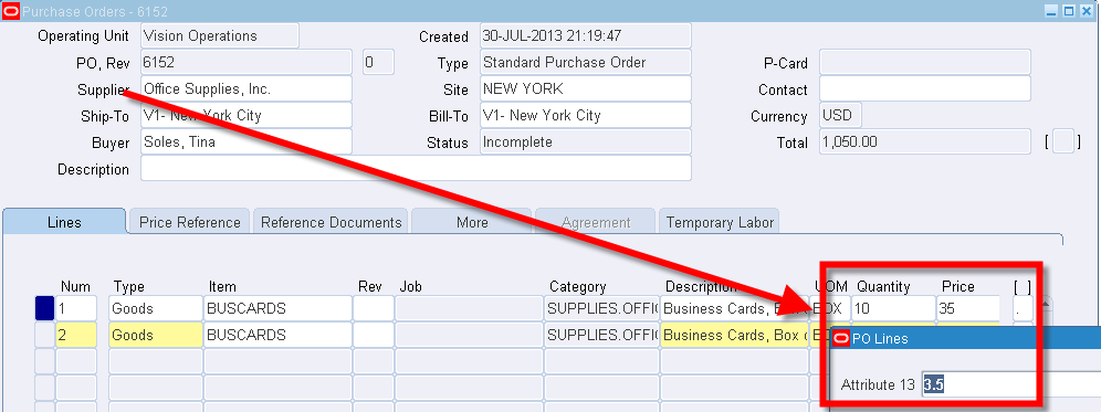 Oracle EBS Forms Personalization: Calculating an Item Value | STR